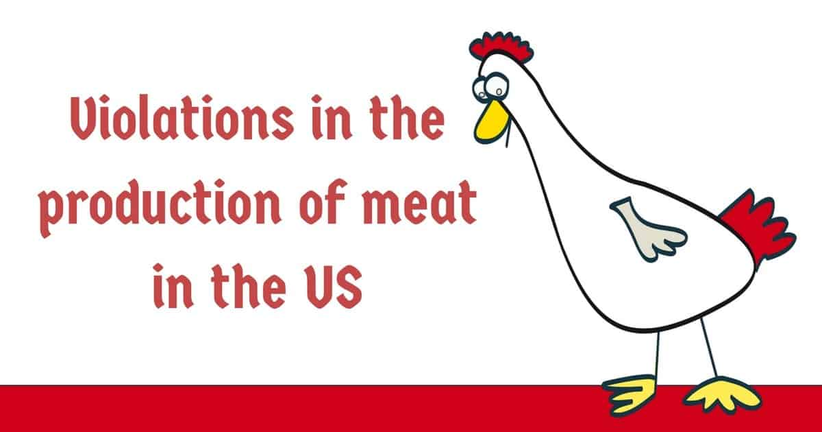Violations in the production of meat in the US