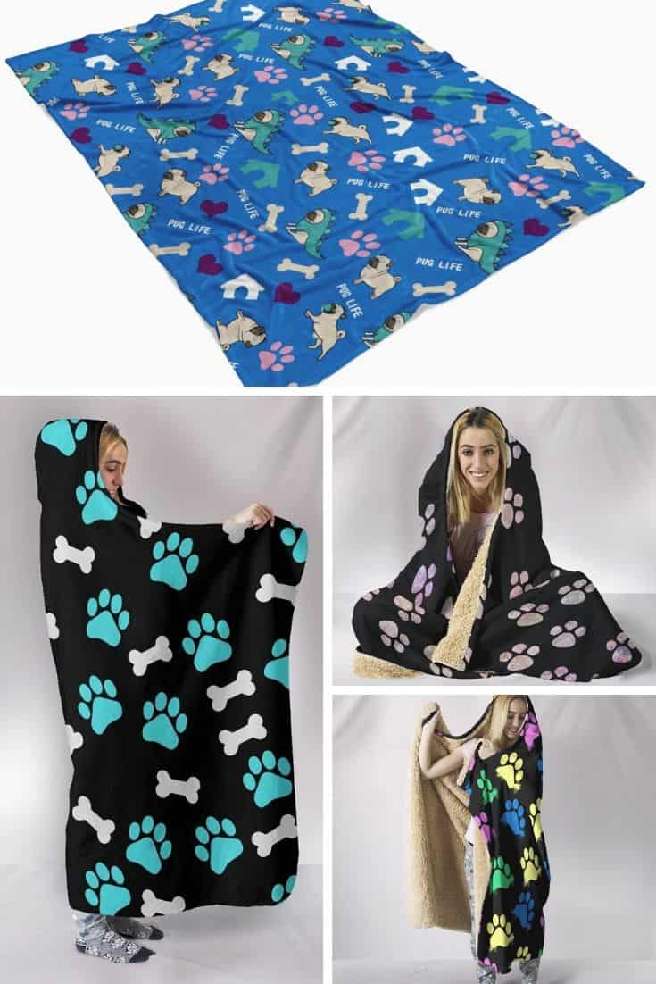 blankets, hooded blankets, veterinary and pet owner desings