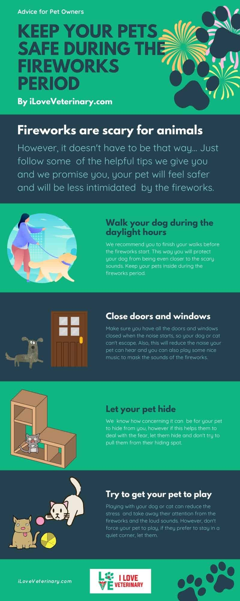 Fireworks are scary for animals infographic